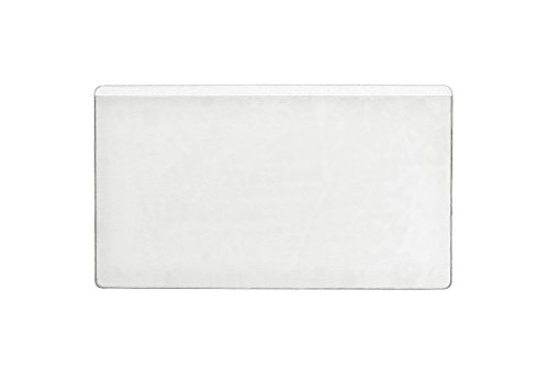 Durable 801919 Pocketfix Selbstklebetaschen für Einsteckschilder, Beutel a 10 Stück 105 x 65 mm, 101 x 61 mm, transparent