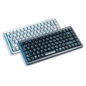 Cherry G84-4100 Kompakte Tastatur USB (Deutsch, 83-Tastenanzahl, PS/2 über Adapter) hellgrau -