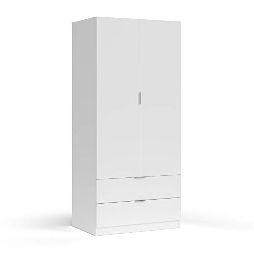Habitdesign LCX222O - Armario ropero 2 Puertas 2 cajones