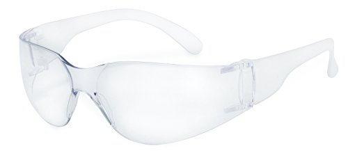 Frosted Clear Glass (SSP 13257 Pro Unisex Recyclable Safety Glasses with Clear Lenses and Frosted Clear Temples)