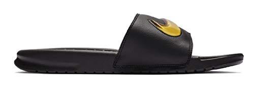 Nike benassi jdi se scarpe da spiaggia e piscina uomo, multicolore (black/amarillo/hyper violet 002) 42.5 eu