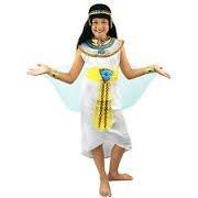 KLEOPATRA /PHARAONIN KOSTÜM FÜR KINDER =ÄGYPTISCHE VERKLEIDUNG FÜR MÄDCHEN = HISTORISCHE KINDER VERKLEIDUNG FÜR PHARAO KÖNIGIN DES NIL = KOSTÜM IN DER GRÖßE = XL/152-164