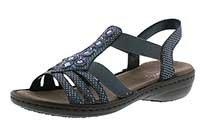 Sandalen 12 Frauen Für (Rieker Damen 60813 Geschlossene Sandalen, Blau (Bleu-Silver), 40 EU)