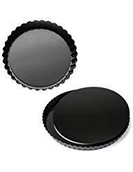 MJ Küche 2Pack 27,9cm herausnehmbarem Boden Tart Pan, Quiche Pfanne, Pie Pfanne mit abnehmbarem Boden, Antihaft-Tart Pie Quiche-Backform