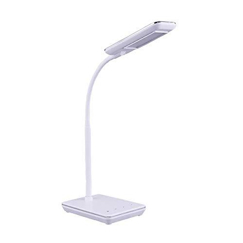 Zlltd lampade da scrivania lampada da tavolo di apprendimento creativo ricarica plug-in occhio lampada studente lettura lampada da tavolo a led casa dormitorio scrivania comodino lampada da tavolo ricarica + linea