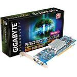 Gigabyte GV-R92S128T Retail Grafikkarte AGP 128MB Radeon 9200 SE DDR TV-Out