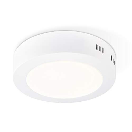 Deckenleuchte Integrierte LED Deckenlampe Runde Form Metall Deckenleuchten Ø17 x 4cm, 12W = 85W, 600 Lumen, 3000K, 30000 Stunden, SKA Sandweiß