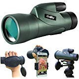 Gosky 10x50 High Definition Monocular Telescope and Quick Smartphone Holder - 2018 New