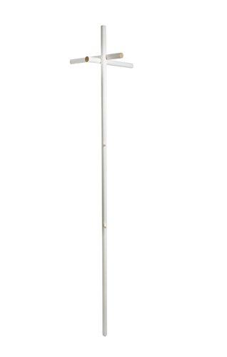 kommod K904 Garderobe, Holz, weiß, 178 x 40 x 30 cm