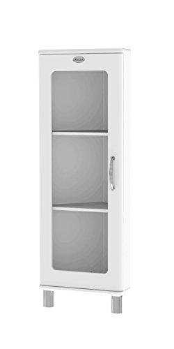 TENZO 5203-005 Malibu Designer Eckvitrine, MDF lackiert, 143 x 50 x 39 cm, weiß