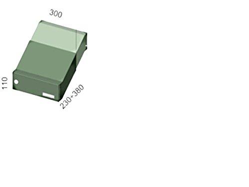 D-041 – Edelstahl Mauerdurchwurf Briefkastenanlage (variable Tiefe) mit Klingel und Namensschild – Letterbox24.de - 3