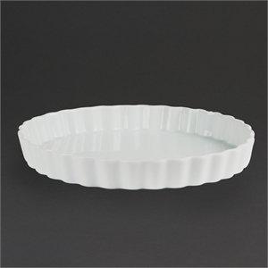 Olympia Whiteware Moules à flan 265 mm 38 (H) x 265 (Ø) mm. Blanc. Quantité : 6.