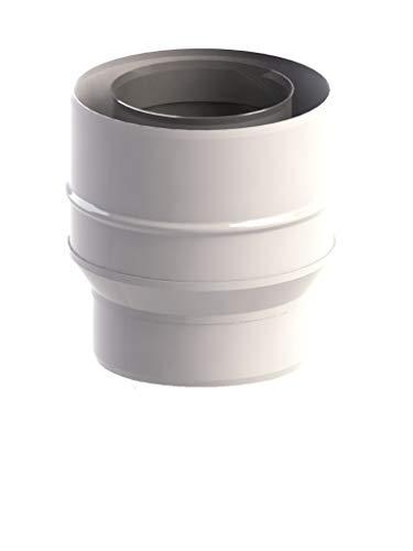 Abgassystem Brennwert DN 60/100-80/125 Adapter für Kesselanschlussstück