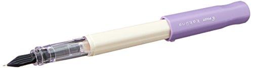 Pilot FKA-1SR-F Kakuno Fountain Pen (Fine Point) - White Barrel/ Violet Cap