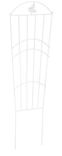 Treillis en métal coloris blanc - 120 x 40 cm -PEGANE-