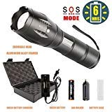 Light3, FLASHLIGHT-T6-US, Flashlight Case with Charger and Rechargeable Battey - Freie Performance-booster