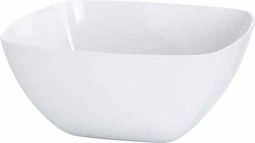 Emsa 504632 Eckige Schale (für Salat, Kunststoff, 4.6 Liter, 26.5 x 26.5 x 12.5 cm, Vienna) weiß (Kunststoff Schüssel Grosse Salat)