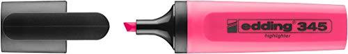 edding Textmarker edding 345 highlighter, nachfüllbar, rosa - Nachfüllbarer Highlighter