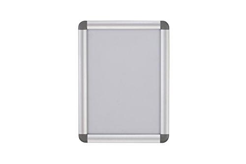 Bi-Office Curled - Marco expositor aluminio rodeado