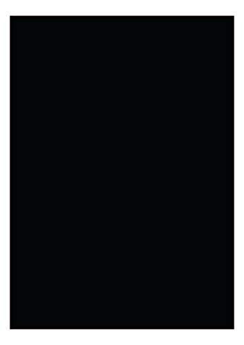 das-label DIN A4 selbstklebende Vinylfolie schwarz | INDOOR matt | zum Basteln Scrapbook | Vinylfolie zum Einlegen in Plotter | Sticker | Aufleber | geeigent auch für Autoaufkleber | Markierungspunkte