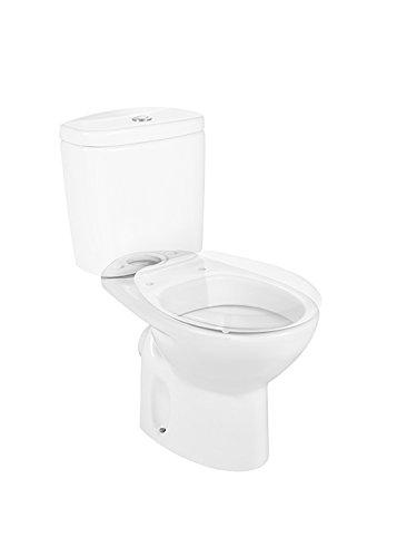 color blanco Roca A342395000 Colecci/ón Victoria Taza salida pared, cisterna y asiento no incluido