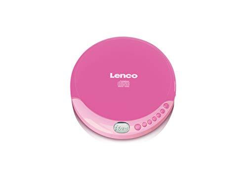 Lenco CD-011 - Tragbarer CD-Player Walkman - Diskman - CD Walkman - Mit Kopfhörern und Micro USB Ladekabel - Pink