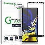 Verre Trempé Galaxy Note 9, amFilm Couverture Complète Protecteur D'écran pour Samsung Galaxy Note 9 (1 Pièce, Noir)