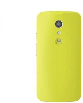 Motorola Back Shell Replacement Cover for Moto G G2 2nd Gen Generation XT1068 - OEM OPP Packing - Lemon