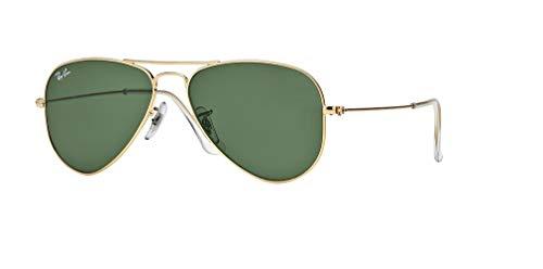 Ray-Ban RB3044 AVIATOR SMALL METAL L0207 52M Arista/Green Crystal Sunglasses