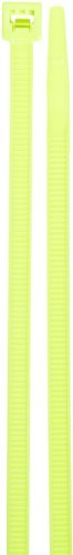 Standard Fluorescent Cable Tie, 50lbs Tensile Strength, 3 Bundle Diameter, 0.187 Width, 11.1 Length, Green by NSI 0.187