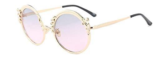 LAMAMAG Sonnenbrille Runde Vintage Designer Sonnenbrillen Verlaufsglas Sommer Shades Cat Eye Brillen Damen Retro Goggle, 4