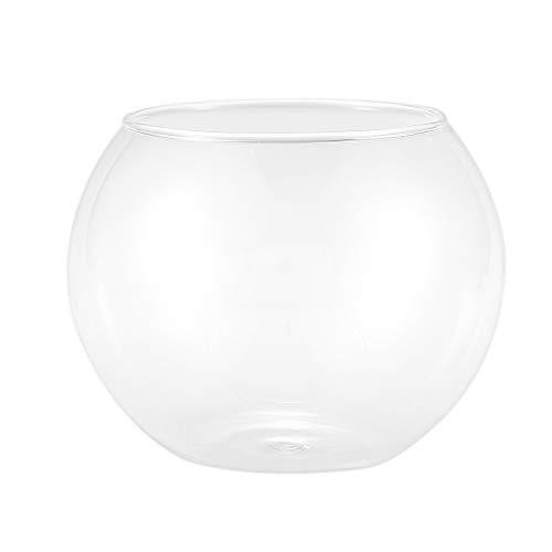 YAXIN Runde Kugelvase im transparenten Glasfischbecken