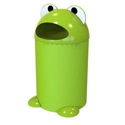 mulleimer-buddy-frosch-75-l-grun-niedlicher-abfalleimer-in-form-eines-froschs