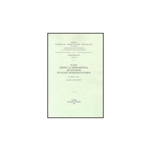 Eliae Epistula Apologetica Ad Leonem, Syncellum Harranensem. Syr. 202.
