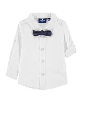 TOM TAILOR Kids Baby-Jungen Shirt Hemd, Weiß (Bright White 1000), Herstellergröße: 80 -