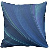 Best Blue Wave Soft Pillows - Blue And Green Soft Sand Waves Throw pillow Review