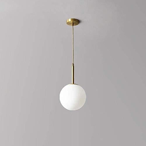 EASTYY Nordic Glas Licht Schatten Droplight Kupfer Metall Anhänger Deckenleuchte Moderne Einfachheit Edison Hängelampe for Schlafzimmer Loft Bar Cafe Esszimmer Hängelampe E27 -