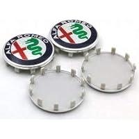 tapacubos Compatibles para Llantas de Alfa Romeo 60 mm Mito Giulietta 147 ...