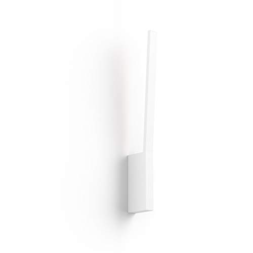 Philips Hue White and Color Ambiance LED Wandleuchte Liane, dimmbar, steuerbar via App, kompatibel mit Amazon Alexa, weiß