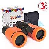 Binoculares para Niños, Joy-Jam Durable Telescopio de Niños, Regalos para Niño de 6-7 años, Juguetes para Niños de 4-6 años Naranja Regalos de Cumpleanos Navidad