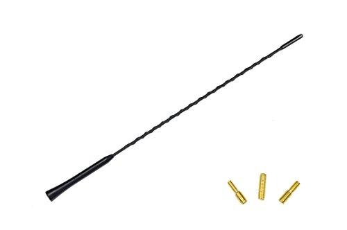 GELAN® KfZ Autoantenne Dachantenne Antenne ANT/13S 650450- 41 cm inkl. spezial Bolzen M4 / M5 / M6 Adapter innenge. - M6 Radioantenne UKW AM / FM