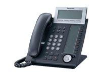 Panasonic KX-NT366NE-B IP-Systemtelefon (6-Zeilen Display, 48 Tasten, Freisprechen, HS Anschluss, Switch, opt. Erweiterungskonsole) schwarz