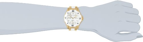 Invicta Women's 1655 Angel White Dial White Ceramic and Gold Watch