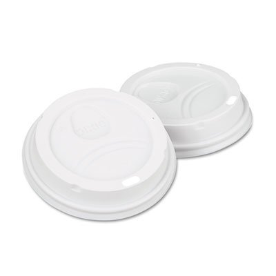 Dixie Dome Drink-Thru Lids, Fits 10, 12 & 16 oz. Paper Hot Cups, White, 500/Carton (DXE9542500DXCT) Category: Cup Lids by Dixie