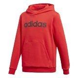 adidas Jungen Linear Hood Kapuzen-Sweatshirt, Vivid Red/Black, 164