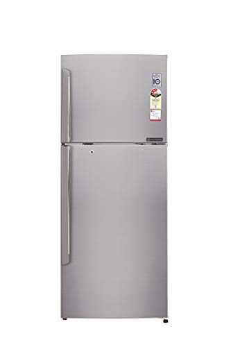 LG 420 L 4 Star Frost Free Double Door Refrigerator(GL-I472QPZX.DPZZEBN, Shiny Steel, Inverter Compressor)