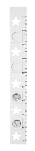 Kids Concept 120243 Längenmeßstab, Star weiß, 100cm, klappbar