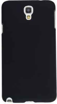 WOW Imagine Rubberised Matte Hard Case Back Cover For Samsung Galaxy Note 3 Neo (Black)