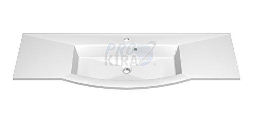 PELIPAL Lunic Mineralmarmor-Waschtisch, Weiß / LU-MMWTR 486-1406C / B: 140 cm
