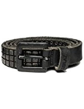 Replay Men's Douglas Unisex Black Leather Belt 100% Leather